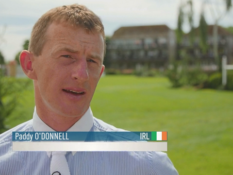 Paddy O'Donnell talking about the Bunn Leisure Speed Derby