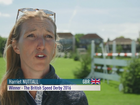 Harriet Nuttall talking about the Bunn Leisure Speed Derby