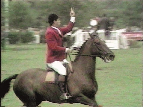 Hickstead Four-Timers: Harvey Smith and the v-sign