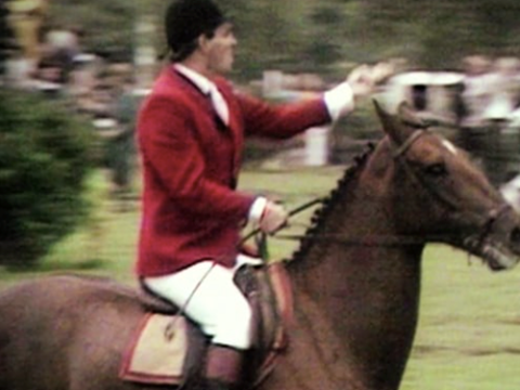 Harvey Smith and the Hickstead V-sign